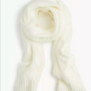 J.Crew Loopy stitch cable-knit scarf oversized